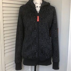 Billabong Zip Sweatshirt Fleece lined Size Medium